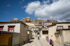 Tibetan Buddhist monastery. Shangri-La,Yunnan, China - October 24, 2015: Songzanlin is Tibetan Buddhist monastery. It is located in Yunnan Province, China Stock Photography