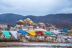 Tibetan Buddhist monastery in Yunnan province Royalty Free Stock Photography