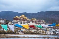 Tibetan Buddhist monastery in Yunnan province. Shangrila. Ganden Sumtseling Monastery. Tibetan Buddhist monastery in Yunnan province, China. The monastery is the royalty free stock photography