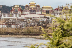 Tibetan Buddhist monastery in Zhongdian city Stock Photography