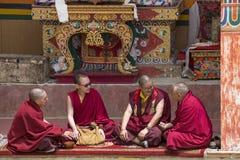 Tibetan Buddhist monk in the monastery of Lamayuru, Ladakh, India Royalty Free Stock Images