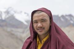 Tibetan Buddhist monk in the monastery of Lamayuru, Ladakh, India Stock Photography