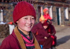 A Tibetan Buddhist Nun Royalty Free Stock Photos