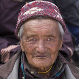 Tibetan Buddhist old men in Hemis monastery. Ladakh, North India Royalty Free Stock Images