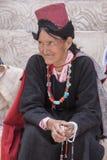 Tibetan Buddhist old women in Hemis monastery. Ladakh, North India Royalty Free Stock Photography