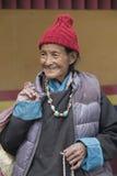 Tibetan Buddhist old women in Hemis monastery. Ladakh, North India Royalty Free Stock Photo