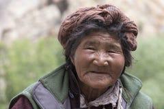 Tibetan Buddhist old women in Hemis monastery. Ladakh, North India Royalty Free Stock Photos