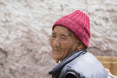 Tibetan Buddhist old women in Hemis monastery. Ladakh, North India Royalty Free Stock Photos