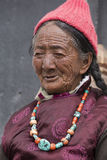 Tibetan Buddhist old women in Hemis monastery. Ladakh, North India Royalty Free Stock Image