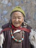 Tibetan Buddhist old women in the monastery of Lamayuru, Ladakh, India Stock Images
