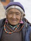 Tibetan Buddhist old women in the monastery of Lamayuru, Ladakh, India Stock Photography