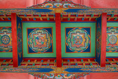 Tibetan Buddhist painting at ceiling Stock Photo