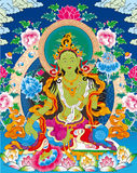 Tibetan buddhist painting Stock Photography