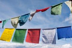 Tibetan buddhist prayer flags Stock Photos