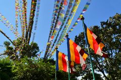 Tibetan Buddhist prayer flags Stock Photo
