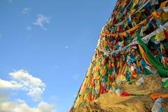 Tibetan Buddhist prayer flags in Lhasa Royalty Free Stock Photography
