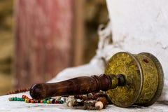 Tibetan Buddhist Prayer Mani Wheel stock images
