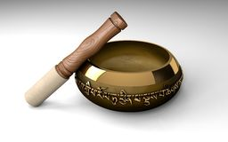 Tibetan buddhist singing bowl for meditation Stock Images
