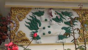 Tibetan buddhist stupa ornaments in Lumbini, Nepal stock video