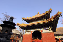 Tibetan Buddhist temple. Yong He Gong, Beijing, China Royalty Free Stock Images