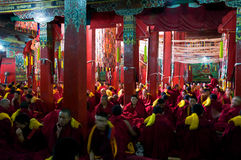 Tibetan buddhist temple Stock Image