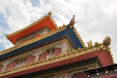 Tibetan Buddhist temple in Dharamsala, India Royalty Free Stock Photography