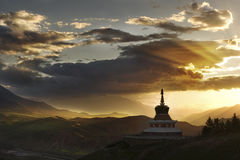 Tibetan Buddhist White Pagoda Royalty Free Stock Photos