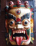 Tibetan Buddhist Wrathful Deity Mask Stock Photos
