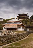 Tibetan buddistisk kloster i Kina Arkivbilder