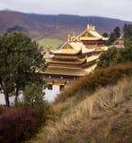 Tibetan buddistisk kloster i Kina Arkivfoto