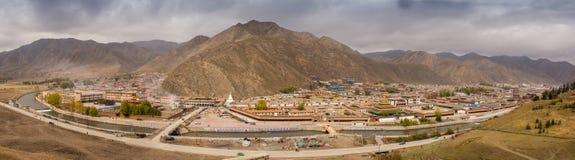 Tibetan buddistisk kloster i Kina Royaltyfria Foton