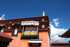 Tibetan building. In Lhasa, Tibet, China Stock Photo