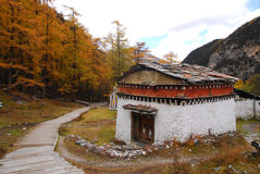 A Tibetan Building Royalty Free Stock Images
