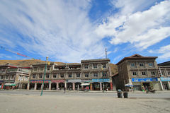 Tibetan building in Xinduqiao town Stock Photos