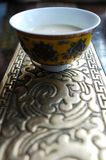 Tibetan Butter Tea. At a restaurant in Lhasa Stock Photo