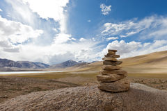Tibetan cairn Royalty Free Stock Images