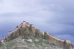 The Tibetan castle on a mountain Royalty Free Stock Photo