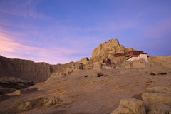 Tibetan castle. The ruin of Guge kingdom castle in the morning, Ngari of Tibet, China Stock Image