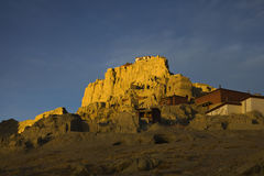Tibetan castle. The ruin of Guge kingdom castle in the morning, Ngari of Tibet, China Stock Photos