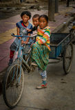 Tibetan children Stock Images