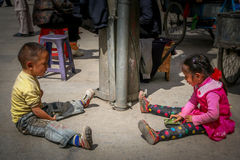 Tibetan children Royalty Free Stock Photo