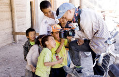 Tibetan  children traveller Stock Photos