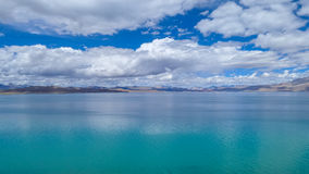 Tibetan classes and lake. Tibetan classes and has the world's highest bird island lake, the lake at an altitude of 4240 meters, the depth of the water to 57 royalty free stock images