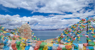 Tibetan classes and lake. Tibetan classes and has the world's highest bird island lake, the lake at an altitude of 4240 meters, the depth of the water to 57 royalty free stock photography