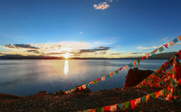 Tibetan classes and lake. Tibetan classes and has the world's highest bird island lake, the lake at an altitude of 4240 meters, the depth of the water to 57 stock photography