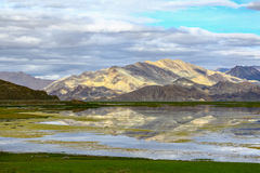 Tibetan classes and lake. Tibetan classes and has the world's highest bird island lake, the lake at an altitude of 4240 meters, the depth of the water to 57 stock photos
