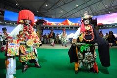 Tibetan clothing show Stock Photos