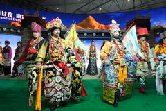 Tibetan clothing show Stock Image
