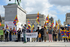 Tibetan Community demonstrate for freedom Royalty Free Stock Image