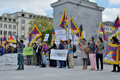Tibetan Community demonstrate for freedom Royalty Free Stock Photo